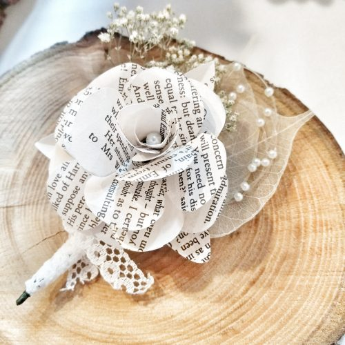 JTD-Book- Paper-Rose-Pinned-Corsage