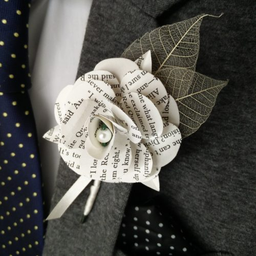 Paper-rose-buttonhole