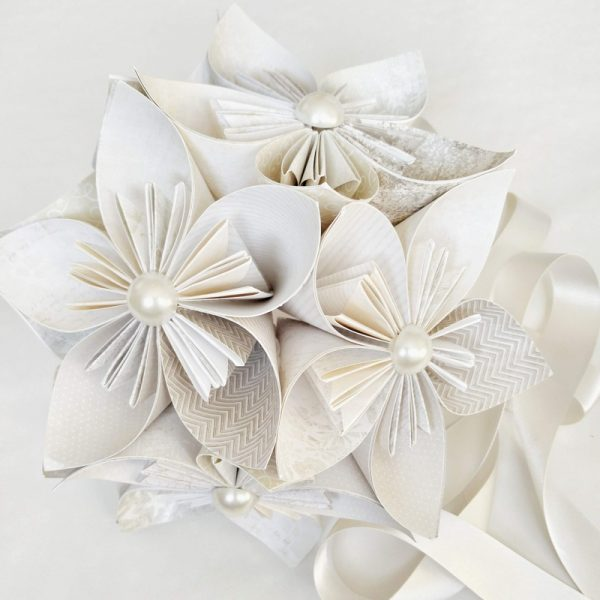 Origami Star Flower Bridesmaid Bouquet