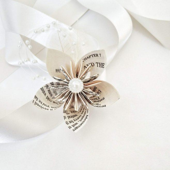 Origami Star Flower Wrist Corsage